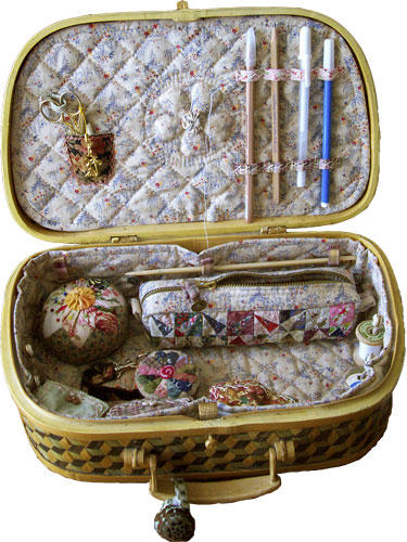 Sewing Case Open Full